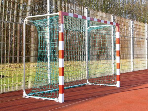 Handballtor mit freier Netzaufhängung